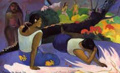 Paul Gauguin, Arearea no varua ino (Reclining Tahitian Women) (1894), Ny Carlsberg Glyptotek