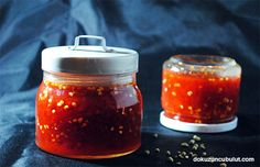 Fermente acı biber reçeli Salsa, Favorite Recipes, Jar, Cooking, Food, Kitchen, Eten, Jars, Meals