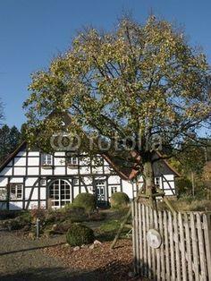 Fachwerkhaus an der Senne in Lipperreihe bei Oerlinghausen am Teutoburger Wald in Ostwestfalen-Lippe