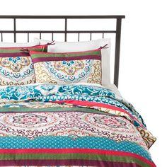 Bought this Boho Boutique Taj Comforter Set off a wedding registry for some friends. So hip/classic. King Size Comforter Sets, King Size Comforters, Baby Bedding Sets, Duvet Sets, Duvet Cover Sets, Bedroom Comforters, Boho Comforters, Target Bedding, Bedspreads