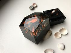 Volcanic. Proposal ring box.Wooden ring box. Engagement ring box. Slim. wood ring box for proposal. Ring holder. Lord of the ring Wooden Ring Box, Wooden Rings, Mens Wood Wedding Bands, Proposal Ring Box, Ring Bearer Box, Wedding Ring Box, Resin Ring, Wood Resin, Jewelry For Her