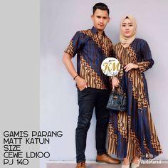 Contoh Baju Couple Baju Gamis Batik Busana Muslim Terbaru 2018 Batik Couple, Batik Fashion, Batik Dress, Couple Outfits, Muslim Couples, Dan, Womens Fashion, Fashion Trends, Saree