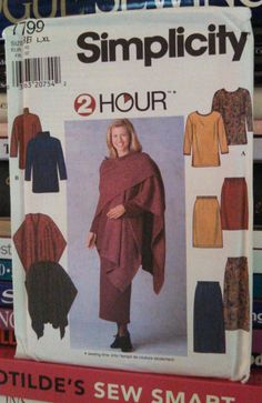 1997 Simplicity 2 Hour Pattern by PaperDiversities on Etsy