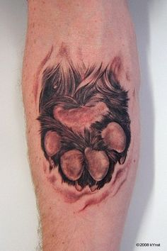 Tattoo by Thomas Kynst I want my dogs paw.(: or my cat
