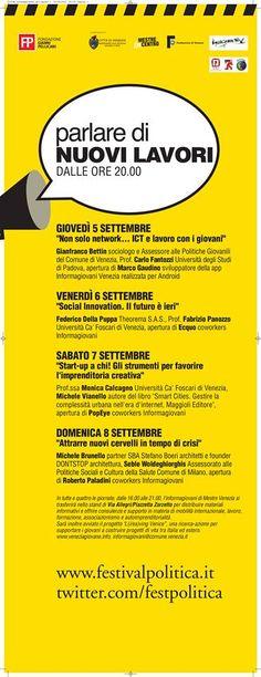 eventi collaterali   NUOVI LAVORI organizzata da informagiovani venezia mestre