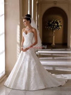 Wholesale Vintage David Tutera Wedding Dress A Line Lace Applique Beaded Helen Bridal Dress Pleat Satin 113215, Free shipping, $165.76-179.2/Piece | DHgate Love this dress<3