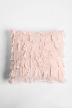 Urban Outfitters - Waterfall Ruffle Pillow on Wanelo