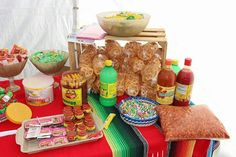 Mexican theme candy table Cant miss out the churros
