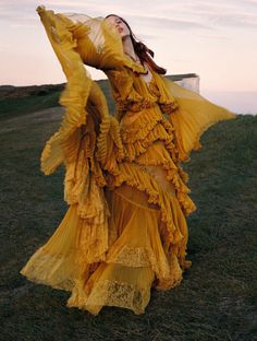 """lustambitions: """" bvlgaria: """" Julia Banas in 'Wuthering Heights' Photographer: Yelena Yemchuk Dress: Roberto Cavalli F/W 2016/17 Vogue China October 2016 """" Is this the Beyonce Hold Up dress… """""""