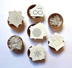 TEMPORARY TATTOOS -- SALE --- Sacred Geometry Set --- Flower of life, Seed of life, Metatron's Cube, Infinity, Phi--- stocking stuffer