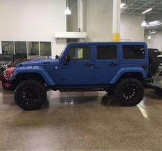 Matte blue jeep