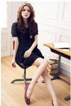 Black Wide Romantic Korean Wholesale Clothing