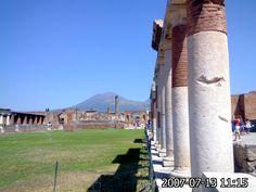 Vesuvio visto di Pompeia