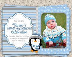 Winter ONEderland First Birthday - Boy First Birthday Invitation - Winter First Birthday Party Printable DIY Invitation