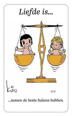 Liefde is...samen de beste balans hebben.