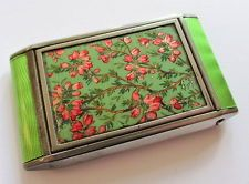 Lovely vintage Art Deco Zell ladies powder compact