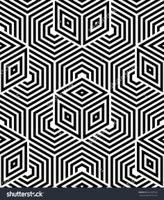 Abstract geometric pattern with lines, rhombuses A seamless  background. Black and white texture.  Graphic modern pattern.