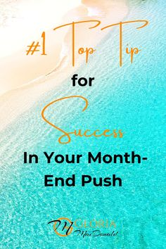 Are you prepared to really give it your all, push past your current limits and go for it?  Whether you're going for the next rank in your company, trying to stay in qualification for your current rank, or going for a special incentive, contest, or bonus...  I'm going to give you my absolute, all time, #1 Top Tip!