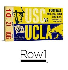 Row One™ cave art, Row One Brand ticket art, Best Father's Day Gifts 2015. Father's Day sports gifts. Row One Brand. #LA #Row1