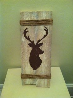 this would be so cute as you walk into our house maybe with an m inside the deer