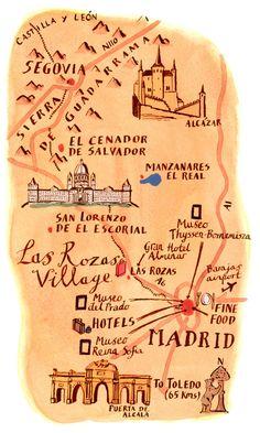 Madrid Map | Michael A. Hill