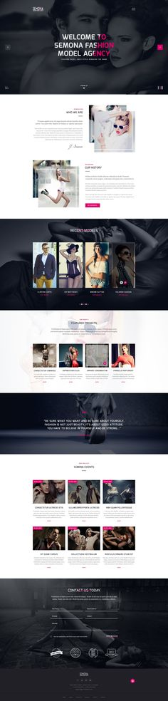 Fashion Semona is a clean, modern but user friendly Joomla 3.x #template which is typically created for fashion #model #agency with 3 elegant home versions, stunning gallery, clean blog, detail service, about us and many other extra pages.