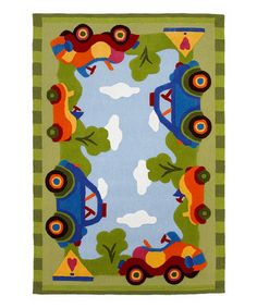 Take a look at this Kolorful Kids Ride in the Park Rug by KAS Rugs on #zulily today!