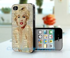 Marilyn Monroe  Apple iPhone 4 Case iPhone 4S Case by Caseapple, $12.99