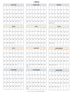Free Printable Calendars for 2014: monthly pages, year at a glance, or academic calendars -- just print and use via www.flandersfamily.info