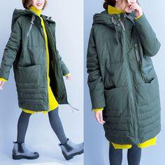 BUYKUD-Women winter warm down jacket coat - Buykud - 1 Down Parka, Down Coat, Coats For Women, Jackets For Women, Girls Coats, Parka Outfit, Oversized Coat, Schneider, Mode Hijab