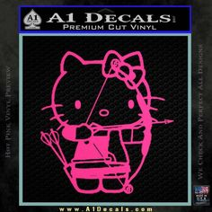 Hello Kitty Archery Compound Bow Decal Sticker   » A1 Decals
