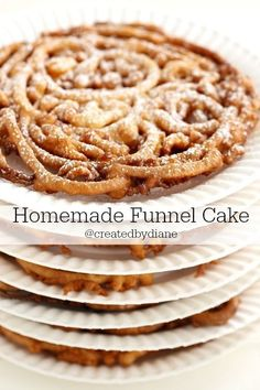 No need to go to the fair when you can make Homemade Funnel Cakes at home