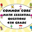 Posting essential questions has never been easier. This printable pack has everything you need for essential questions for the fourth grade math Common Core Standards. On sale for $3.00