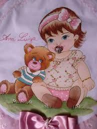 Resultado de imagem para mantas de bebe pintadas a mão