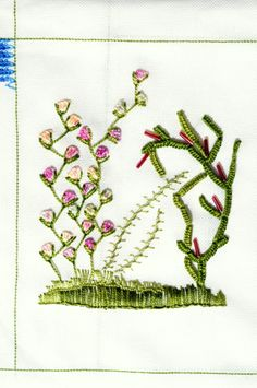 Great picture using buttonhole stitch.