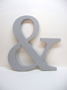 Wood AMPERSAND Sign -15 inches - Painted Paris Grey - Weddings - Mr. & Mrs. - Photo Prop - Typography - Save the Date. $29.99, via Etsy. >> again, great in an office