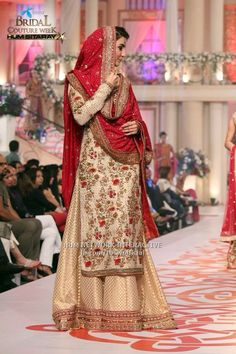 Pakistani Wedding Dress. Pakistani Style. Pakistani Dress ♡ ♥ ♡ Bcw 2015 . Follow me here MrZeshan Sadiq