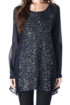 Danica Top in Midnight: Holiday shirt