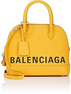 $2,150, Balenciaga Women's Ville Small Leather Satchel. This Italian-made bag includes a key fob and padlock encased in matching saffiano leather. #satchel #bags #handbags #balenciaga #style #affiliate #shopstyle #mystyle