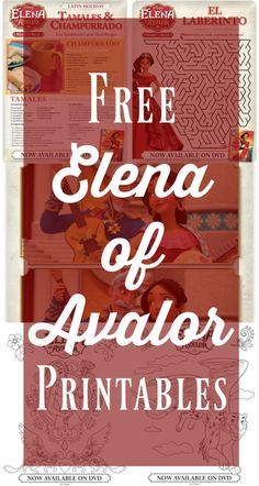 Free Elena of Avalor Printables - LatinaMomsOC.com