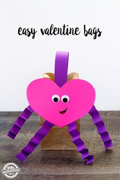Just in time for Valentine's Day, learn to make Easy Valentine Bags, perfect for kids to bring to school for Valentine's Day parties!
