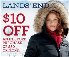 Spotzot: Offers - $10 Off purchase of $50 or more on Lands' End at Sears