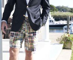 mens shorts great island wear or Preppy Wedding Rehearsal Party Dinner