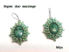 superduo earrings by Maja