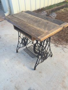 Singer Sewing Machine Table by SawMarkFurniture on Etsy
