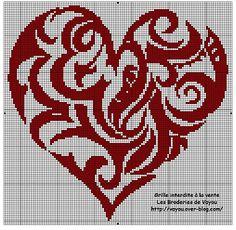 Scheme for a cross-stitch heart -- Clarissa