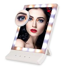 Euph Lighted Makeup Mirror allows you to do your make-up freely even in the dark or poorly light areas! Features 1.The screen is Large and clear enough to be used for makeup, grooming, shaving. 2.A 10x magnifying spot mirror is matched with the lighted makeup mirror, fits for details... more details available at https://furniture.bestselleroutlets.com/bathroom-furniture/bathroom-mirrors/lighted-vanity-mirrors/product-review-for-euph-lighted-vanity-mirror-18-led-makeup-mirror-