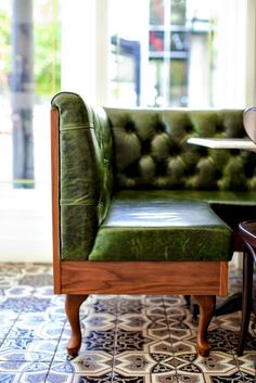 green sofa / Homer Street Cafe / Restaurant Design
