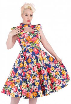 Hearts & Roses Norella Rockabilly Dress