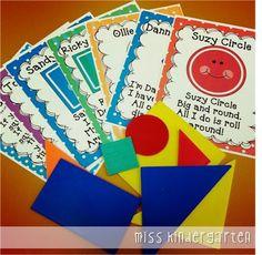 Miss Kindergarten: The First Week of School and Classroom Pictures Shape poems Preschool Learning, Kindergarten Classroom, Preschool Activities, Preschool Shapes, Classroom Setup, Kindergarten Graduation, Learning Games, Future Classroom, Miss Kindergarten